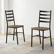 W. Trends Slat Back Dining Chairs, 2 pk. - Reclaimed Barnwood
