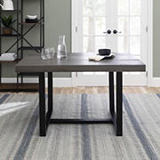 "W. Trends 52"" Distressed Solid Wood Dining Table - Gray"
