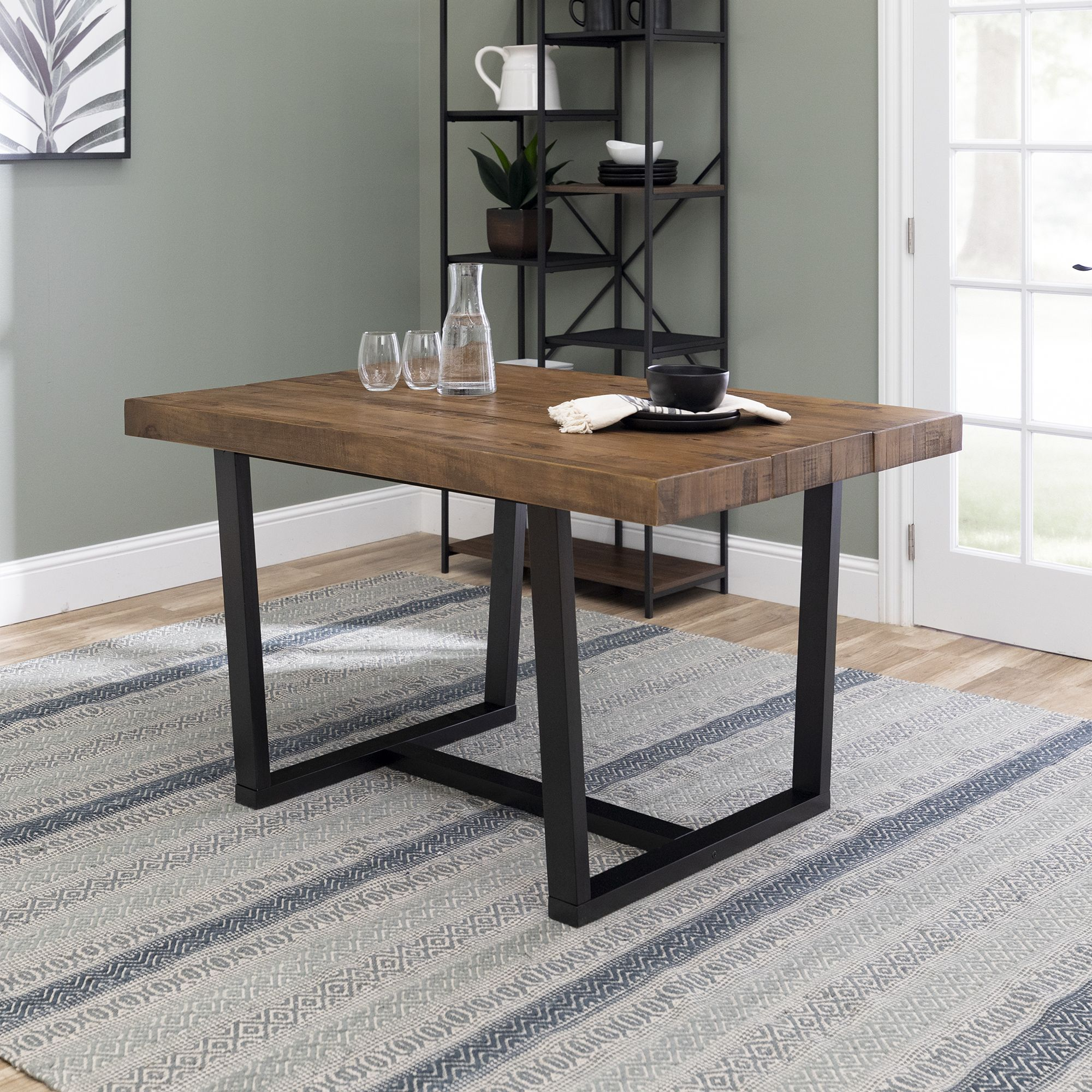52 Distressed Solid Wood Dining Table Reclaimed Barnwood