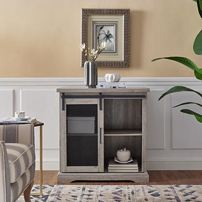 """32"""" Rustic Farmhouse Entryway Storage Accent TV Stand Console for TVs Up to 34"""" - Gray Wash"""