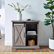 "W. Trends 32"" Rustic Farmhouse Entryway Storage Accent TV Stand Console for TVs Up to 34"" - Gray Wash"