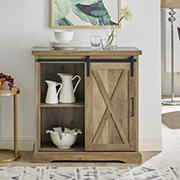 """32"""" Rustic Farmhouse Entryway Storage Accent TV Stand Console for TVs Up to 34"""" - Rustic Oak"""