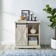 """32"""" Rustic Farmhouse Entryway Storage Accent TV Stand Console for TVs Up to 34"""" - White Oak"""