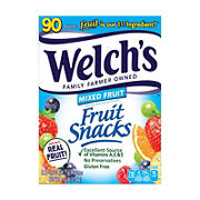 Welchs Mixed Fruit  Snacks, 90 ct.