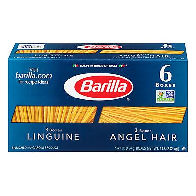 Barilla Angel Hair and Linguine Pasta, 6 pk./16 oz.