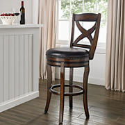 Berkley Jensen Solid Wood Swivel Barstool