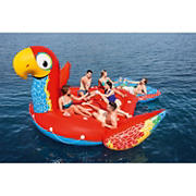 H2OGO! 6-Person Giant Parrot Inflatable Party Island Float