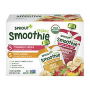 Sprout Organic Toddler Smoothies Variety Pack, 10 ct.