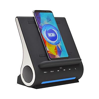 Azpen 3-In-1 Fast Wireless Charging Sound Hub - Black
