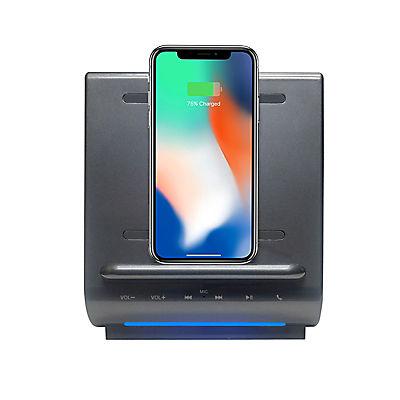 Azpen 3-In-1 Fast Wireless Charging Sound Hub - Gray