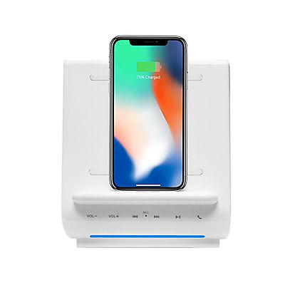 Azpen 3-In-1 Fast Wireless Charging Sound Hub - White