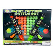 Blast Popper Set with Two Double Handle Air Poppers and 72 ct. Foam Balls