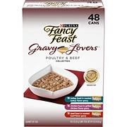 Purina Fancy Feast Gravy Lovers Poultry & Beef Variety Pack, 48 ct.