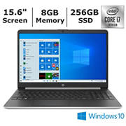 HP 15-dy1078nr Laptop, 10th Generation Intel Core i7-1065G7 Processor, 8GB Memory, 256GB SSD, Intel Iris Plus Graphics