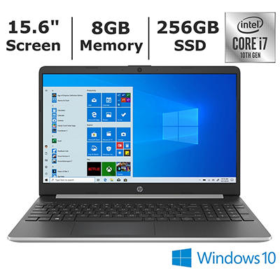 HP 15-dy1078nr Laptop, 10th Generation Intel Core i7-1065G7 Processor,