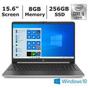 HP 15-dy1076nr Laptop, 10th Generation Intel Core i5-1035G1 Processor, 8GB Memory, 256GB SSD, Intel UHD Graphics