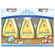 Johnson's Head-To-Toe Gentle Baby Wash and Shampoo Value Pack, 3 ct.