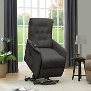 ProLounger Henrietta Power Recline & Lift Velvet Chair - Charcoal Gray