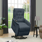 ProLounger Henrietta Power Recline & Lift Velvet Chair - Caribbean Blue