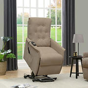 ProLounger Henrietta Power Recline & Lift Velvet Chair - Barley Tan