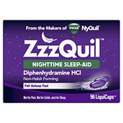 Vicks ZzzQuil Nighttime Sleep Aid LiquiCaps, 96 ct.