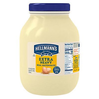 Hellmann's Extra Heavy Real Mayonnaise, 128 oz.