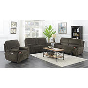 Kian Motions Fairfax 3-Pc. Power Reclining Set - Brown