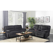 Kian Motions Mansfield 2-Pc. Power Reclining Set - Gray