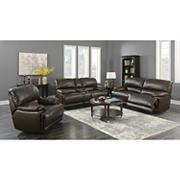 Kian Motions Bradbury 2-Pc. Leather Reclining Set - Brown