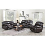 Kian Motions Wilmington 3-Pc. Faux Leather Reclining Set - Brown