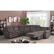 Kian Motions New Haven 7-Pc. Power Chaise Sectional  - Brown