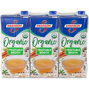 Swanson Organic Vegetable Broth, 3 pk.