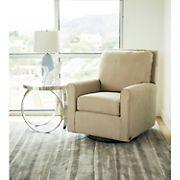Abbyson Living Fiona Fabric Gliding Chair - Gray
