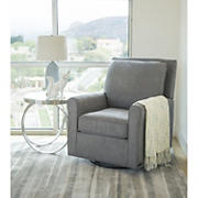 Abbyson Living Fiona Fabric Gliding Chair - Gray