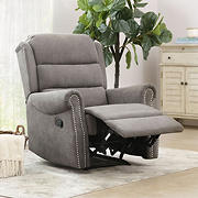 Abbyson Living Charlene Fabric Recliner - Gray