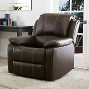 Abbyson Living Mackenzie Leather Recliner - Brown