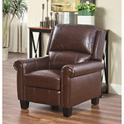 Abbyson Living Odessa Pushback Leather Recliner - Brown