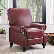 Abbyson Living Clarkson Pushback Recliner - Red