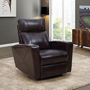 Abbyson Living Overland Power Theatre Recliner - Brown