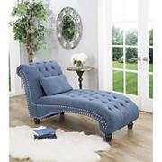 Abbyson Living Cadence Oversized Chaise Lounge - Blue