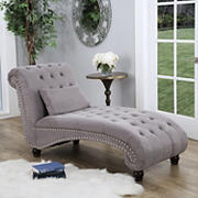 Abbyson Living Cadence Oversized Chaise Lounge - Gray