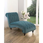 Abbyson Living Daniella Tufted Velvet Chaise Lounge - Teal