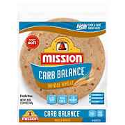 Mission Low Carb Whole Wheat Tortillas, Burrito Size, 8 ct.