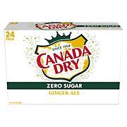 Canada Dry Zero Sugar Ginger Ale Soda, 24 pk./12 fl. oz. cans
