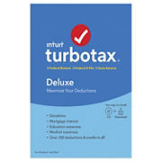 Intuit TurboTax Deluxe Federal Returns, Federal E-File and State Returns 2019 for Windows/Mac