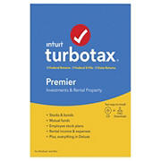Intuit TurboTax Premier Federal Returns, Federal E-File and State Returns 2019 for Windows/Mac