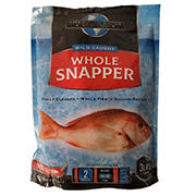 Frozen Wild Caught Whole Snapper, 3 lbs.
