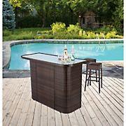 Berkley Jensen Wicker Bar Table