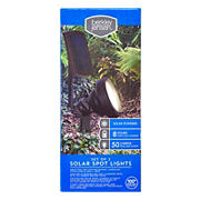 Berkley Jensen 50-Lumen Solar Spot Lights, 2 pk. - Oil-rubbed Bronze