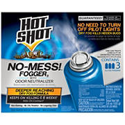 Hot Shot No-Mess! Indoor Fogger with Odor Neutralizer, 3 pk.